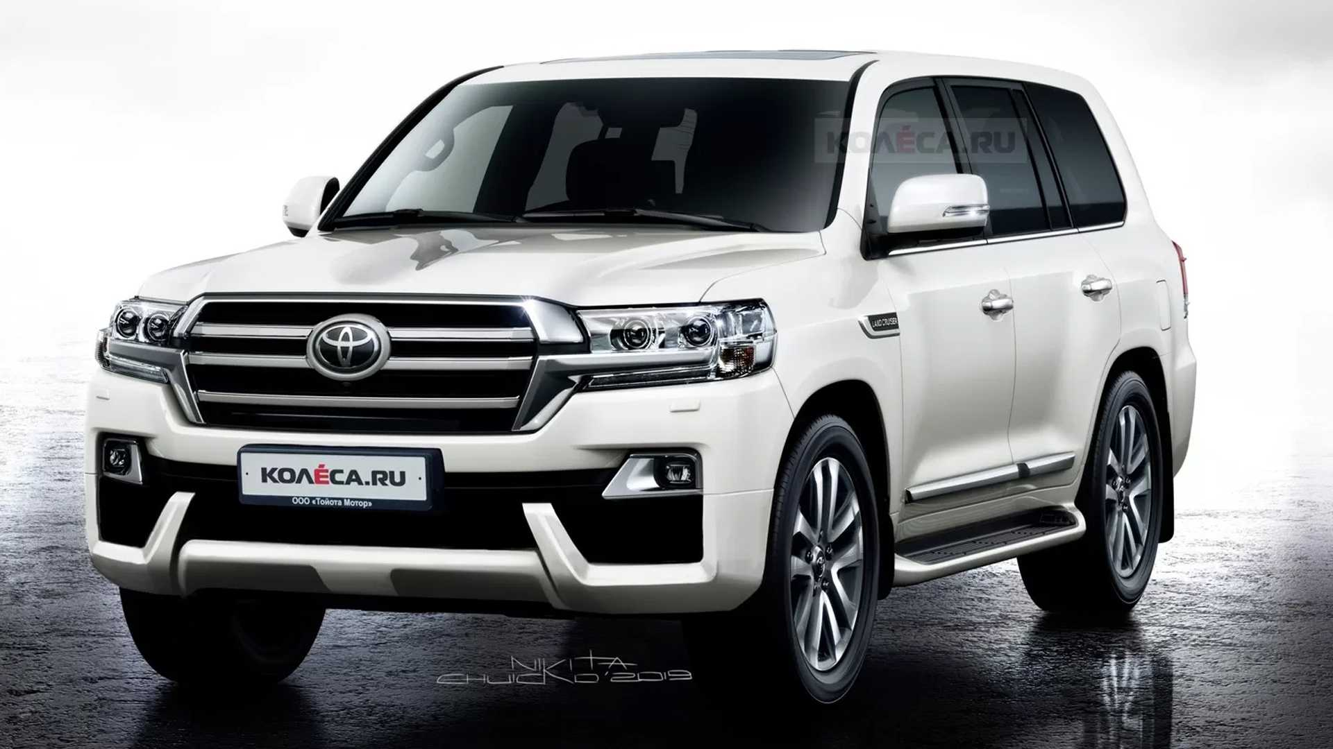 Toyota Land Cruiser Rendering Shows A Minor Facelift For The Big SUV
