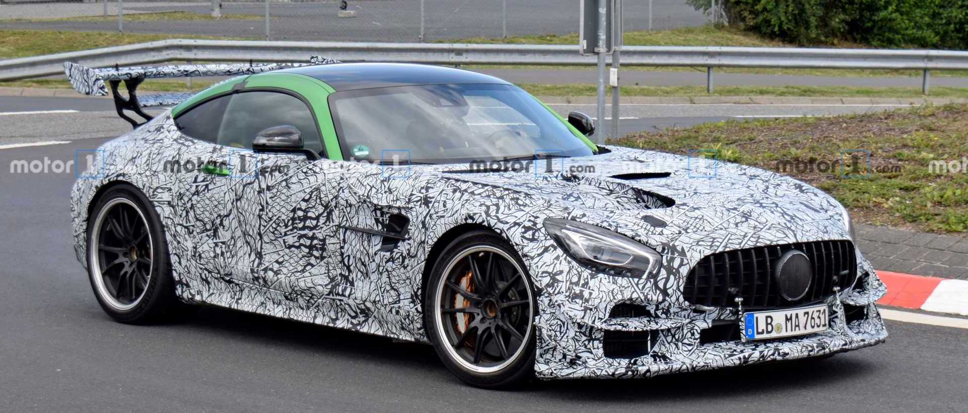Mercedes-AMG GT R Black Series Spied With Wild Wings At The 'Ring