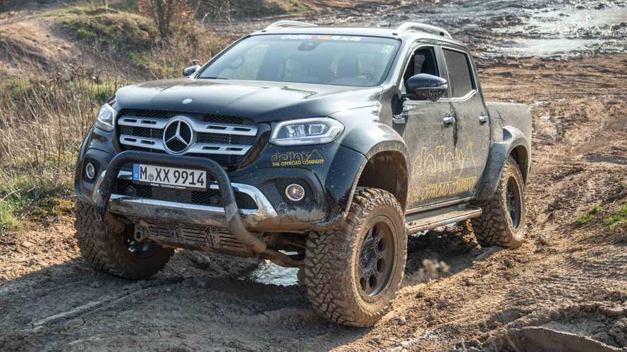 Widened, Lifted Mercedes X-Class Doesn't Mind Getting Dirty