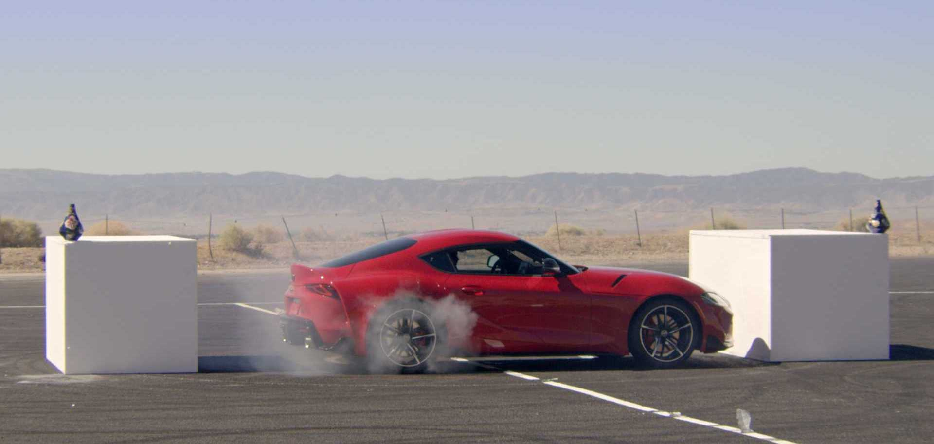 See Pro Drifters Atomize Toyota Supra Tires In A Crazy Game Of Horse
