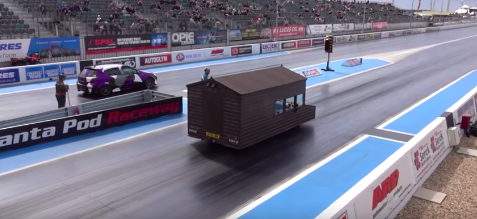 World's Fastest Shed Hits The Drag Strip With Audi RS4 Engine