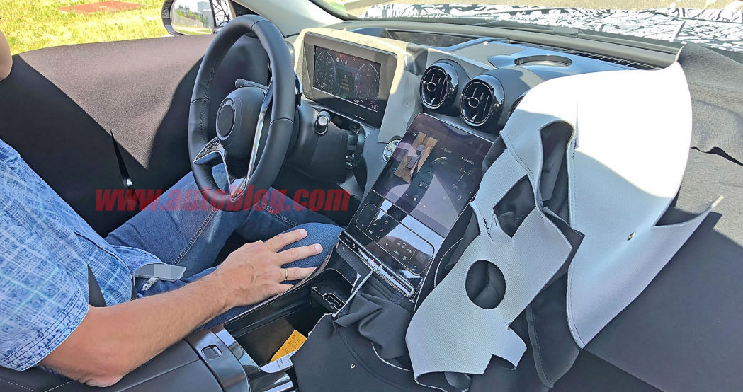 Mercedes-Benz C-Class interior spied revealing a touchscreen heaven