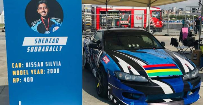 13ème Place Pour Le Mauricien Shehzad Soorabally Au Red Bull Car Park Drift