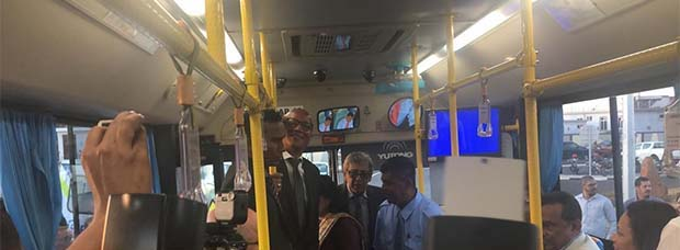 Inauguration d'un Traffic Center: petit tour in the bus