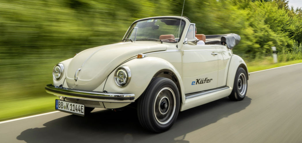 VW is providing electric powertrains to convert classic Beetles