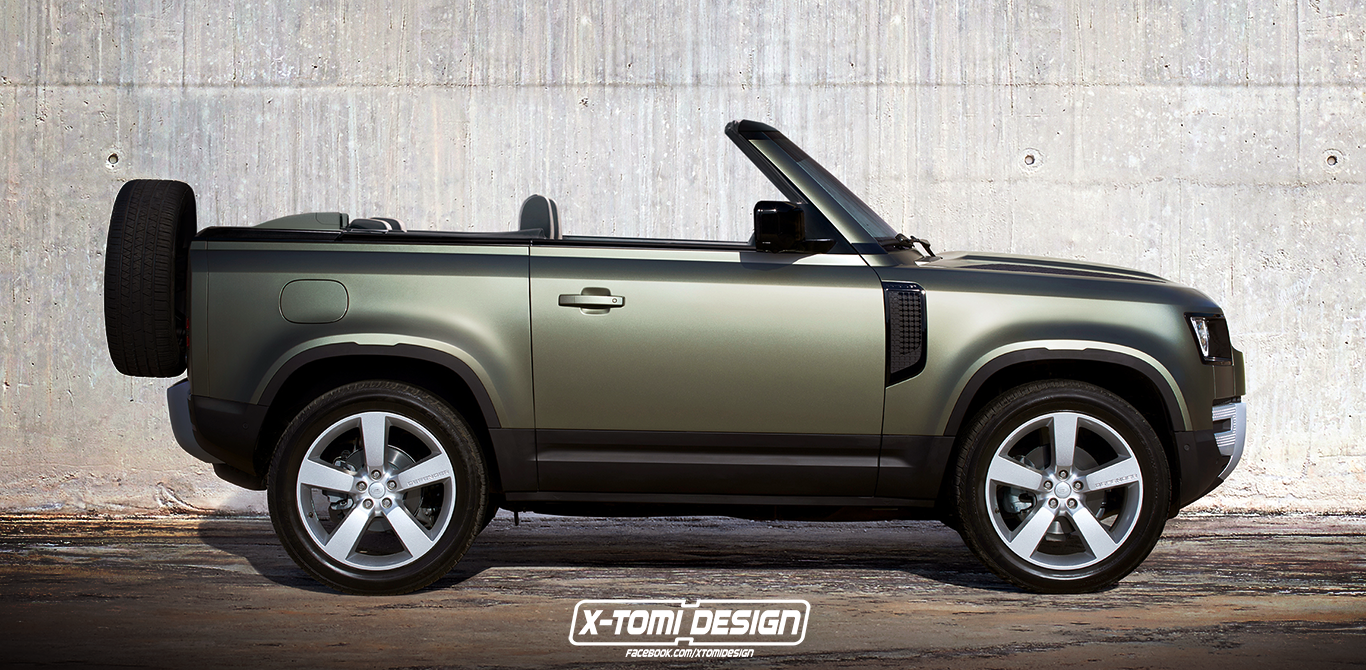 2020 Land Rover Defender 90 Convertible Looks Amazing, Too Bad It's A Rendering