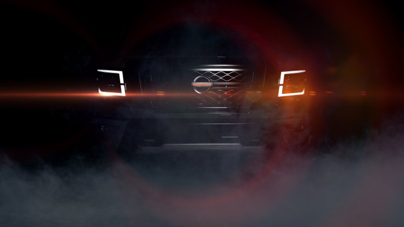 2020 Titan PRO-4X teased with red Nissan logo