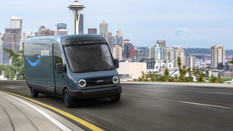 Amazon is ordering 100,000 Rivian electric delivery vans