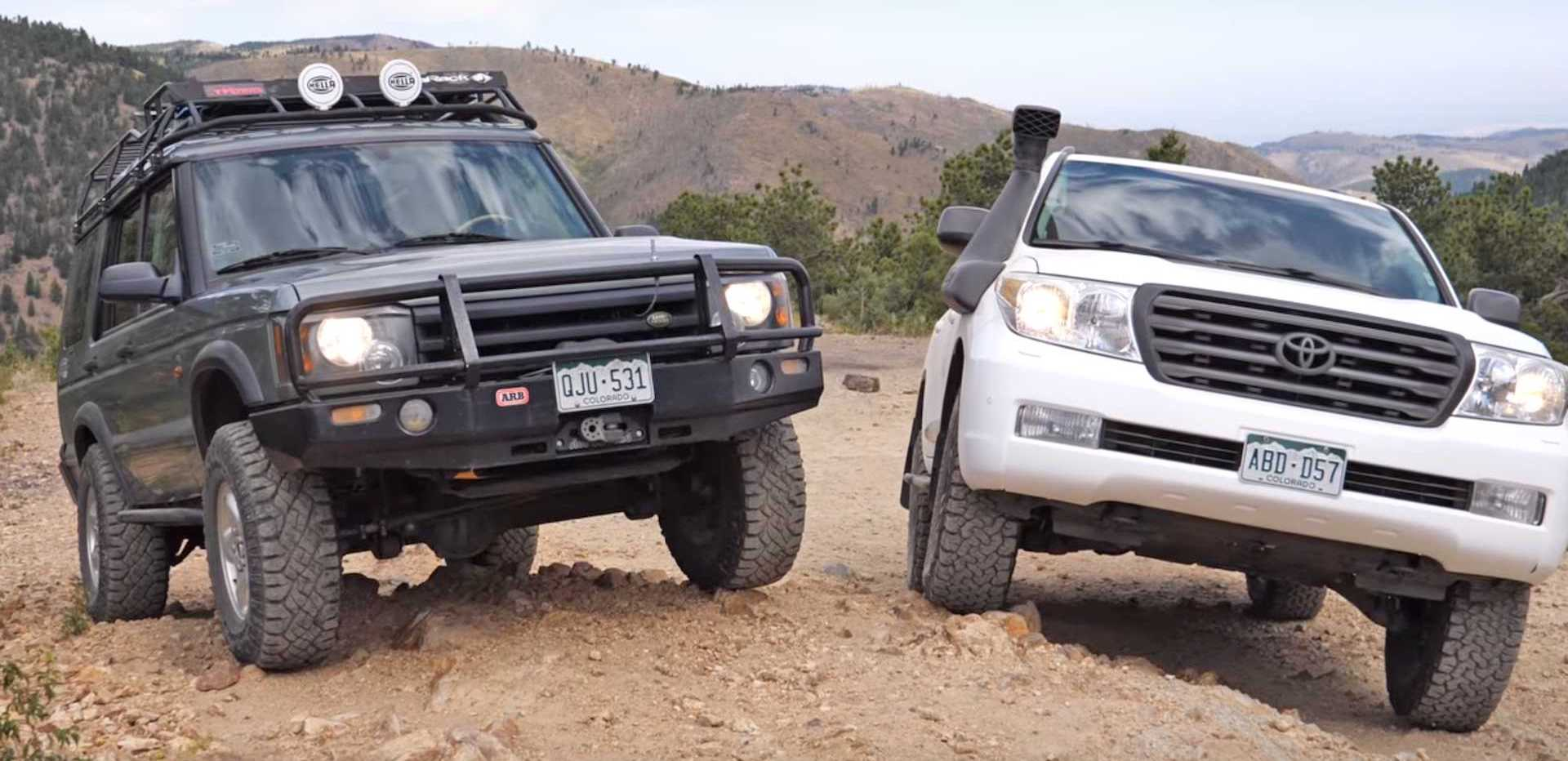 Toyota Land Cruiser And Land Rover Discovery Meet In Off-Road Duel