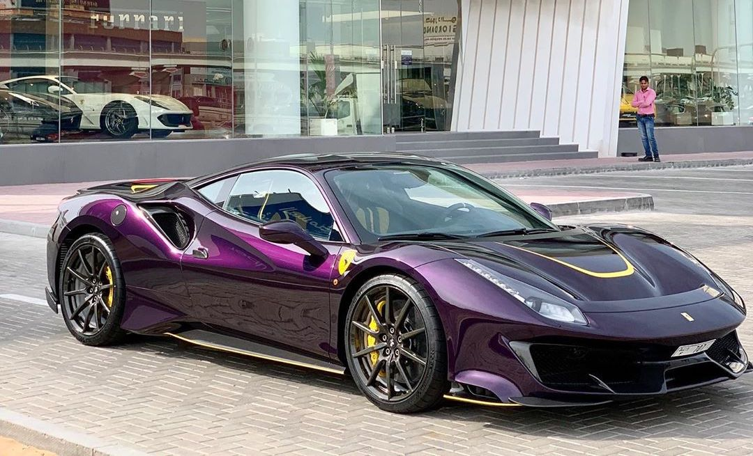 Viola Hong Kong Ferrari 488 Pista Shows Amazing Spec, Spotted in Dubai