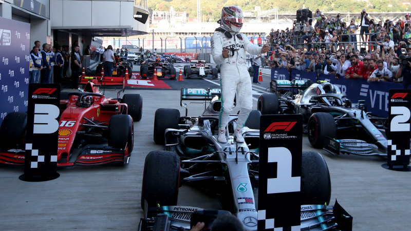 Lewis Hamilton wins Russian Grand Prix in 1-2 victory for Mercedes