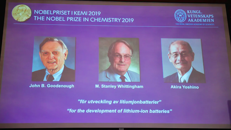 3 win Nobel Prize for work on lithium-ion batteries