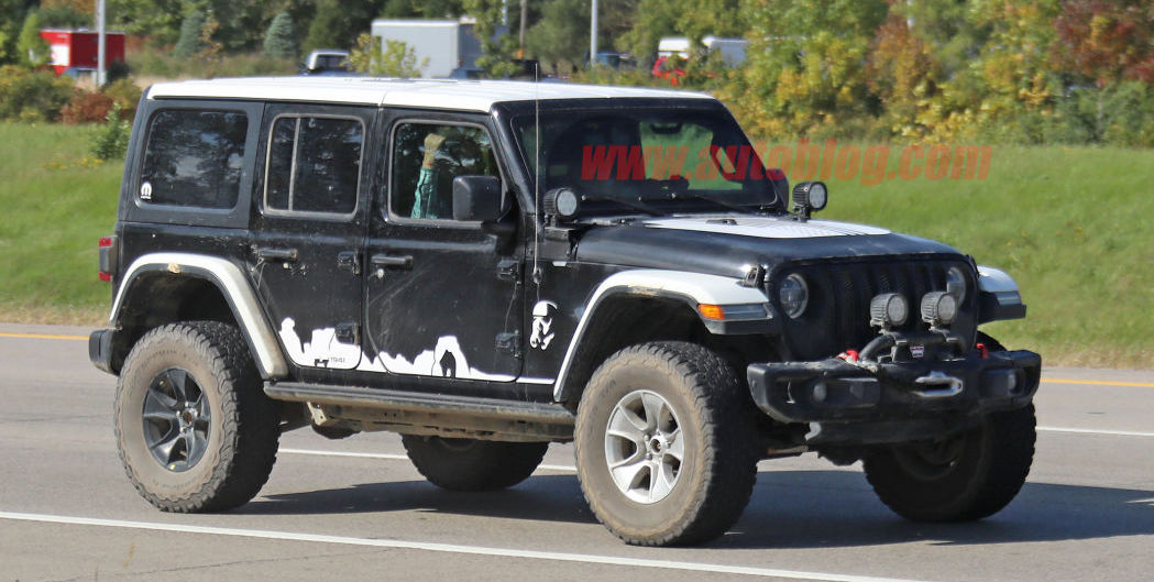 Star Wars Stormtrooper Edition Jeep Wrangler spied?