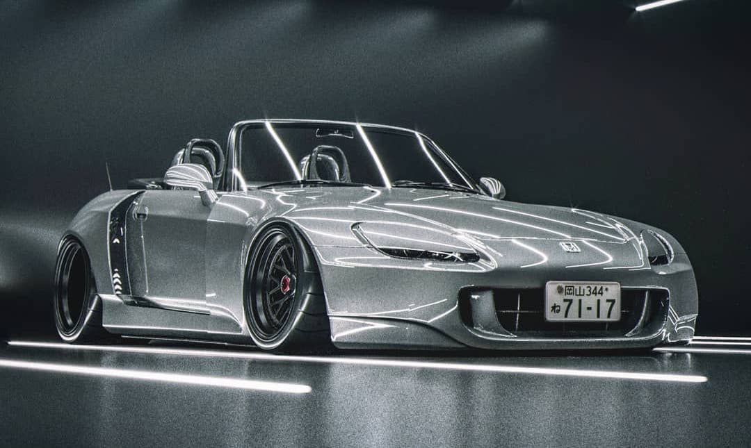 Widebody Honda S2000 Has Covered Headlights, Looks Sleepy