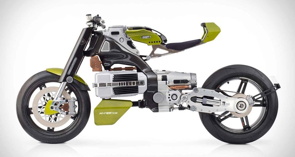 BST Hypertech Electric Motorcycle Comes with Standard Burnouts and Wheelies