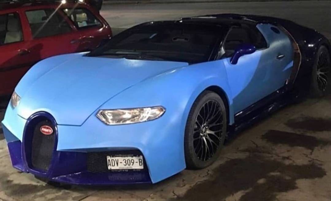 Fake Bugatti Chiron Actually Looks Like a Veyron, Based on a Corvette