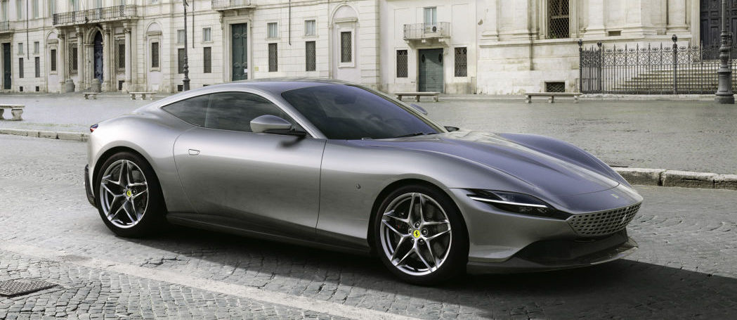 The Ferrari Roma is revealed as a gorgeous two-door Italian coupe