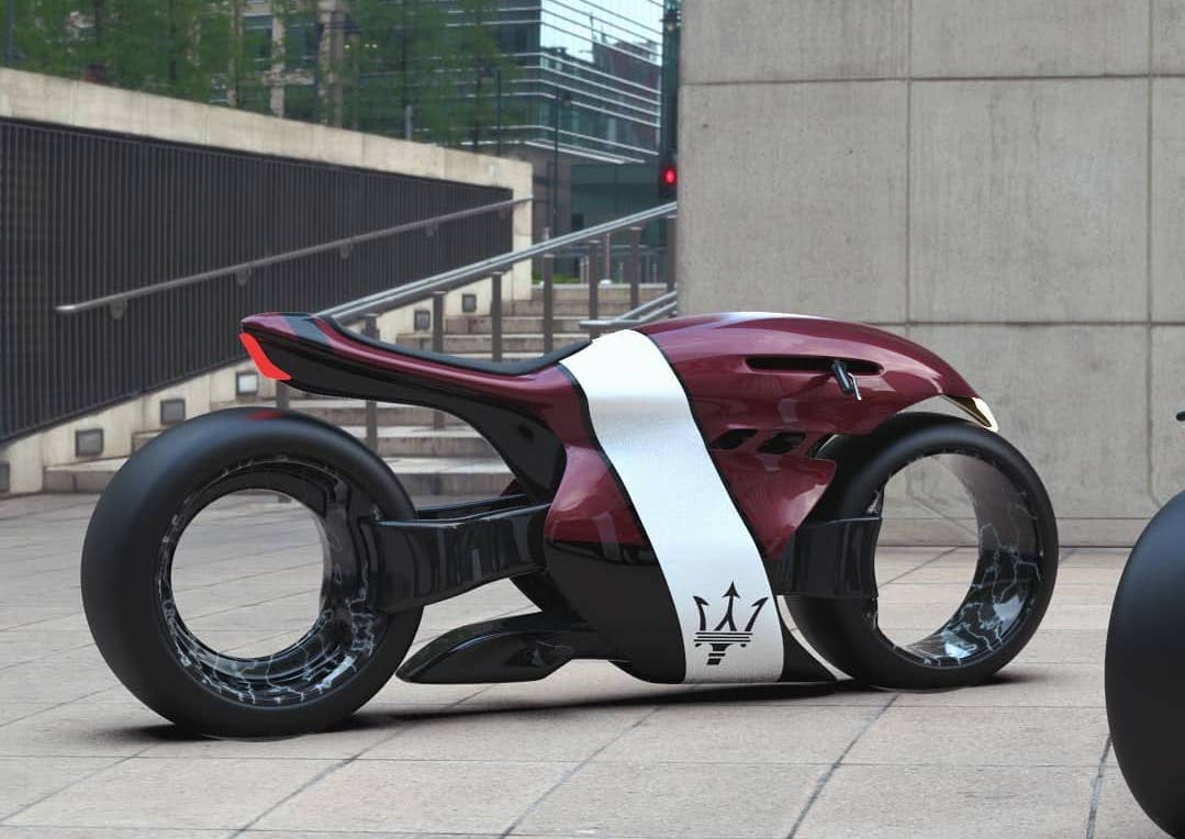 Maserati Electric Superbike Concept Looks Like Alien, Has Hubless Wheels
