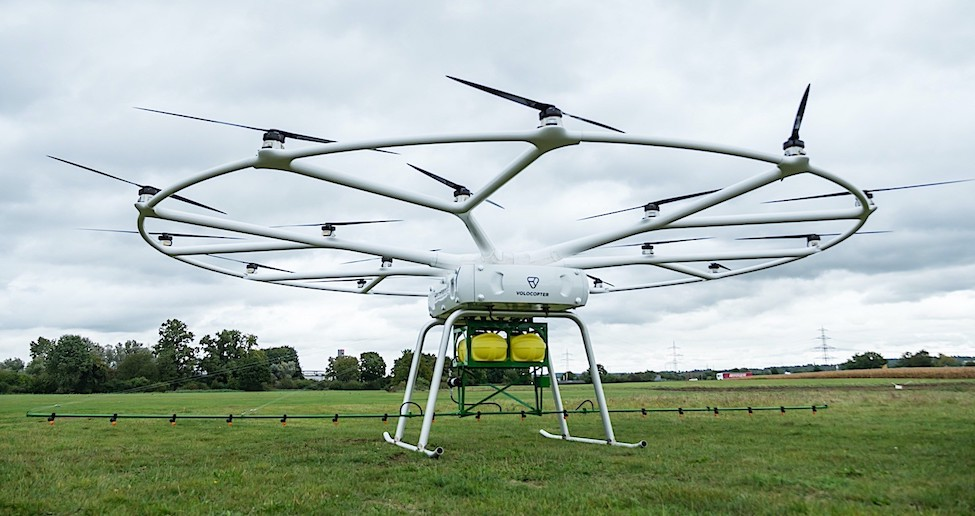 Huge John Deere Drone Has 18 Volocopter Rotors and Can Carry 200 Kg