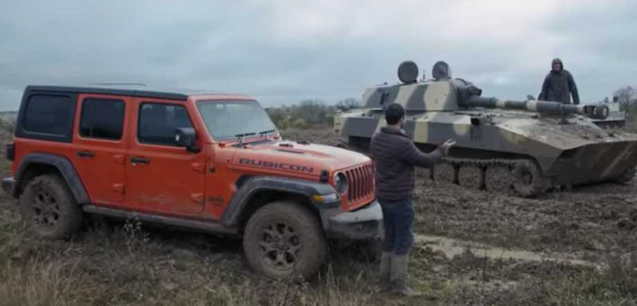 Watch Jeep Wrangler Race Tank In Rough Off-Road Conditions