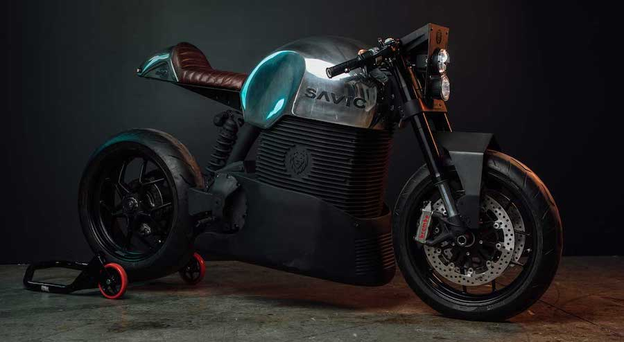 Savic Electric Motorcycle Is Thor's Hammer in the Hands of Mad Max