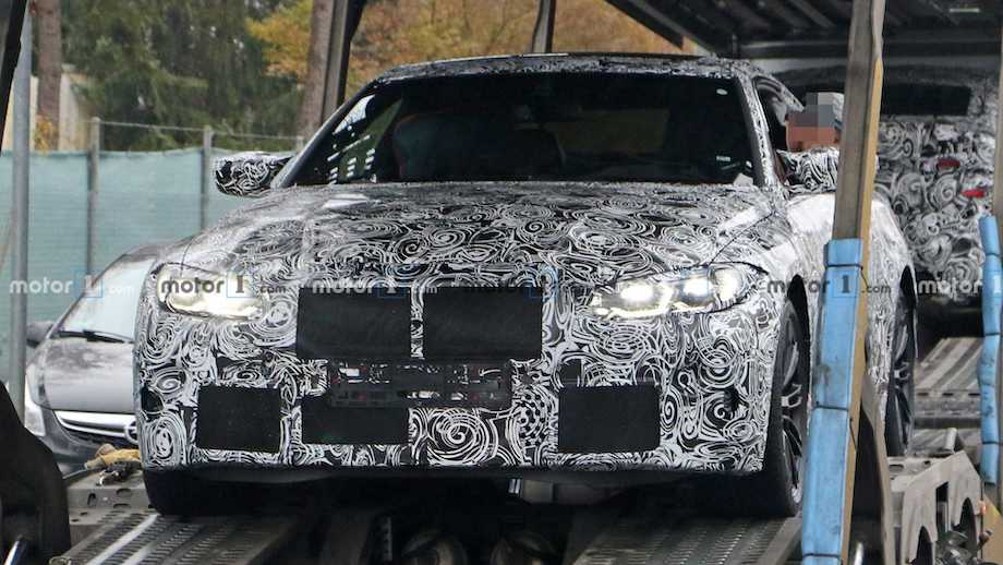 New BMW M4 Spied Being Unloaded From A Trailer