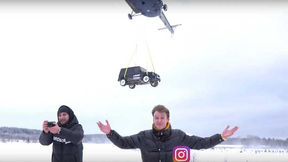 Meanwhile In Russia: Unhappy AMG G63 Owner Drops It From Helicopter