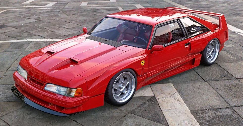 Budget Ferrari F40 Is Actually a Ford Mustang Fox Body with a Twist