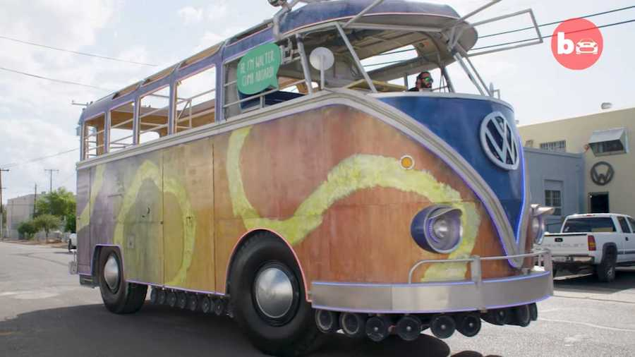 This Super-Sized VW Party Bus Replica Is Actually An Old Fire Truck