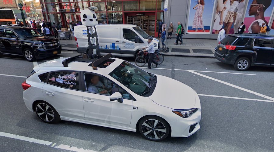 Google Maps Car Meets Apple Maps Car, It's Love at First Sight