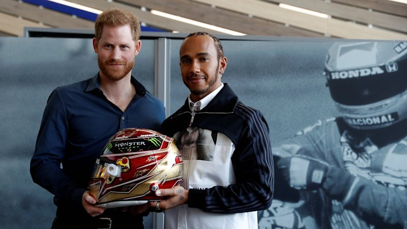 Prince Harry and F1 champion Lewis Hamilton open Silverstone racing museum