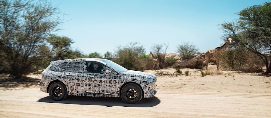 BMW iNext test mules work up a sweat in the African desert