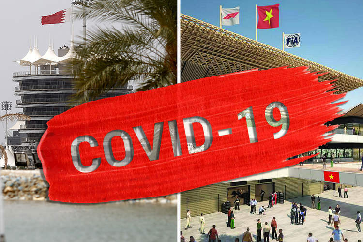 And now the Bahrain and Vietnam Grands Prix are off because of coronavirus