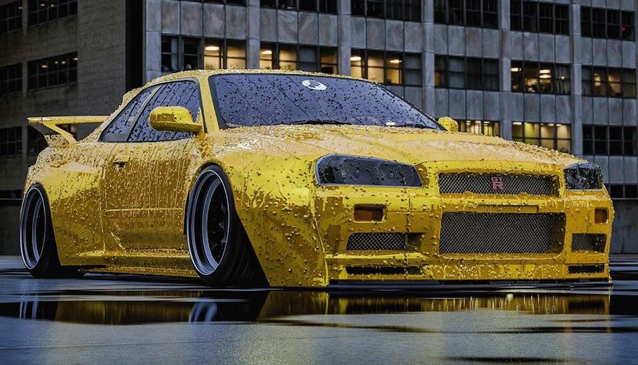 """Widebody Nissan GT-R """"Yellow Yakuza"""" Looks Lean and Clean"""