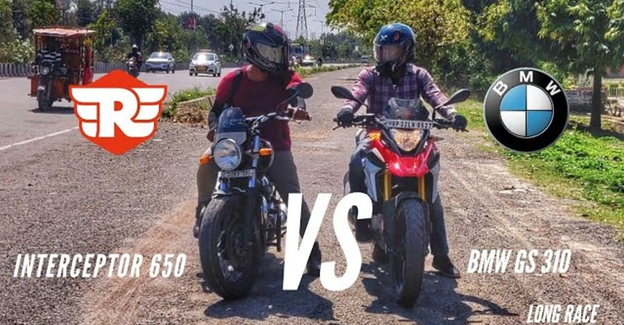 Drag Racing A BMW Against A Royal Enfield, Who Wins?