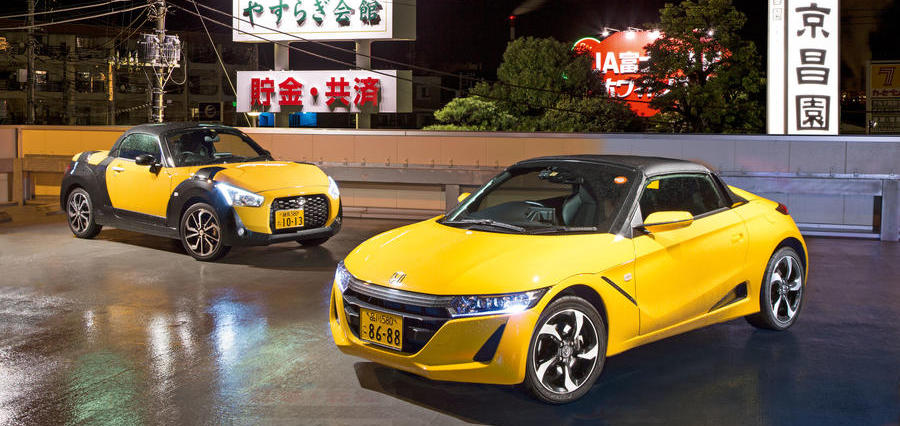 Japan's micro sports cars – Honda and Daihatsu kei cars driven