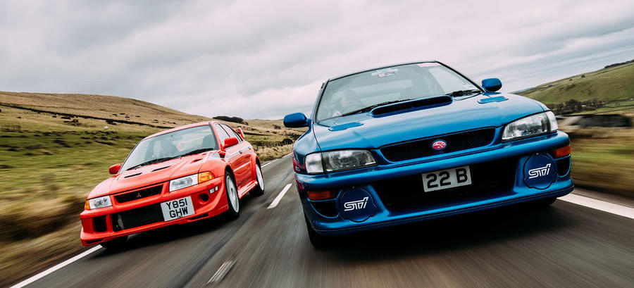 Rally legends twin test: Mitsubishi Lancer Evo VI Makinen vs Subaru Impreza 22B
