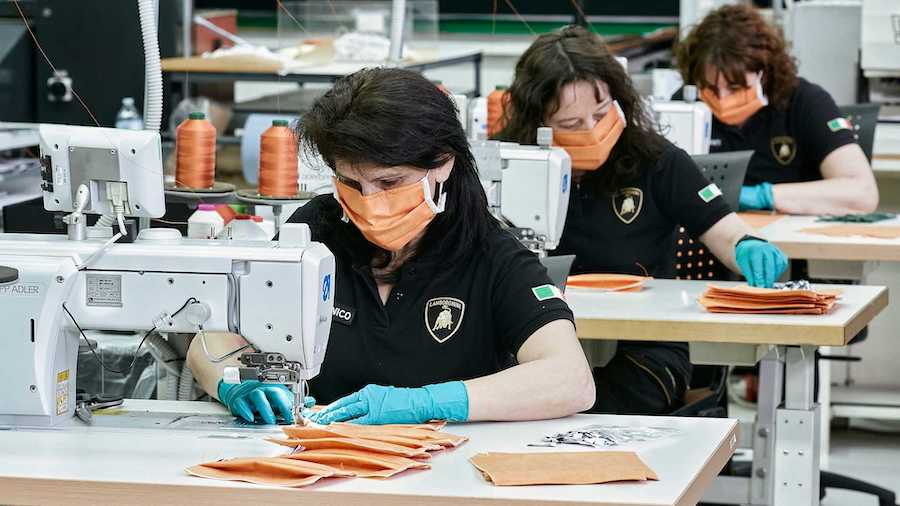 Lamborghini Produces Face Masks, Shields For Healthcare Workers