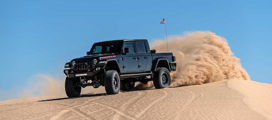 Hennessey Maximus Jeep Gladiator Jumps Sand Dunes As Production Starts