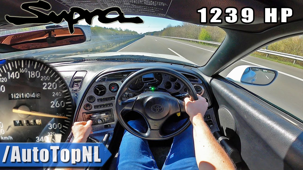 1,239-HP Toyota Supra Accelerates Like A Rocket On The Autobahn