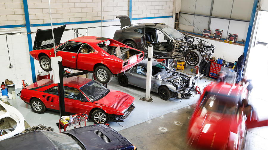 The supercar graveyard: where Ferraris and Lamborghinis go to die