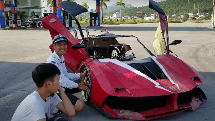 Cardboard Supercars From Vietnam Look Incredible And Can Drive