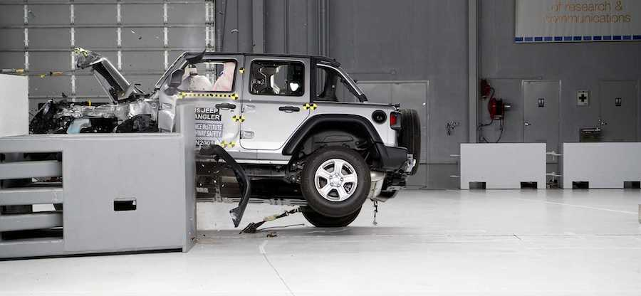 Watch New Jeep Wrangler JL Tip Over During Latest Crash Test