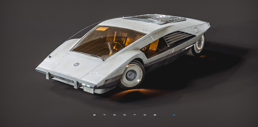 "Lancia Stratos ""Slashed Zero"" Design Study Is Italian Cyberpunk Done Right"