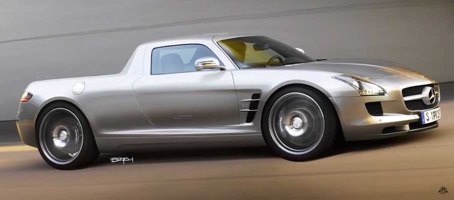 See Mercedes SLS AMG Morph Into A Super Ute Before Your Eyes