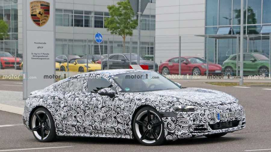 2021 Audi E-Tron GT Spied At Porsche's Development Center