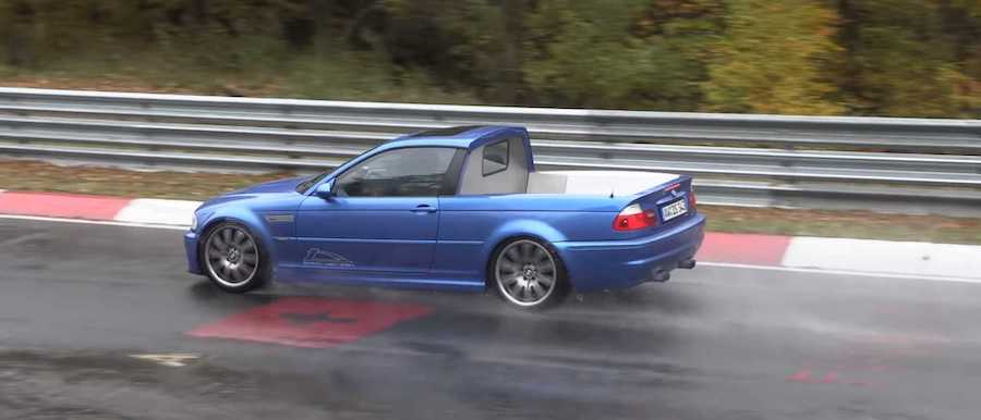 BMW 3 Series E46 Truck Makes Unusual Appearance At The Nürburgring