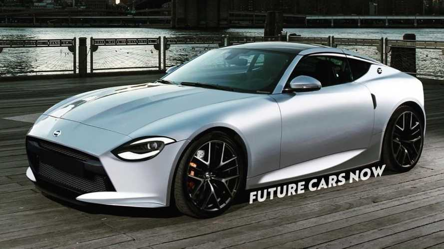 2021 Nissan 400Z Rendered After Official Teaser Looks Retrolicious