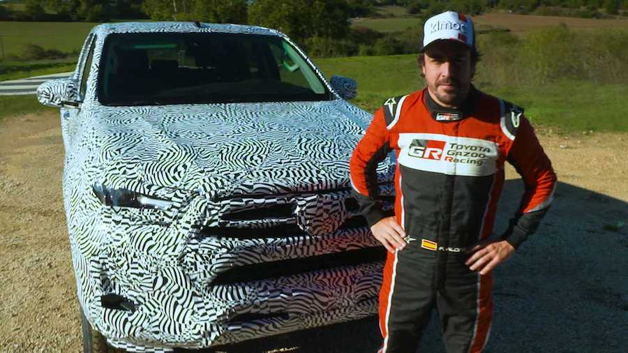2021 Toyota Hilux Teased With Fernando Alonso Behind The Wheel