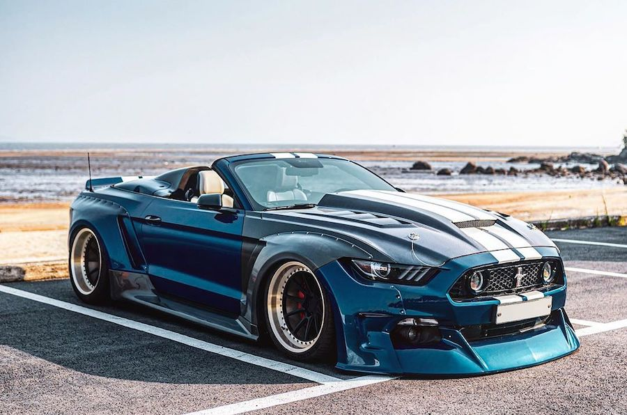 "Widebody Ford Mustang ""Unicorn"" Has Clinched Roadster Top"
